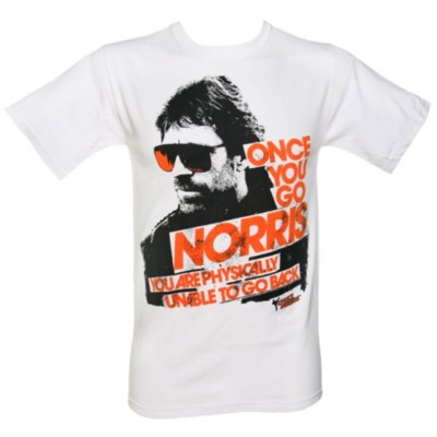 T-shirt Once you go Chuck Norris Maglia Uomo ufficiale