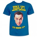 T-shirt The Big Bang Theory Sheldon Cooper Don't you think maglia ufficiale Uomo