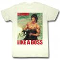 T-shirt John Rambo - Like a boss Stallone maglia Uomo ufficiale film First blood