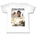 T-shirt Scarface All I have break Tony Montana Al Pacino Maglia Uomo ufficiale