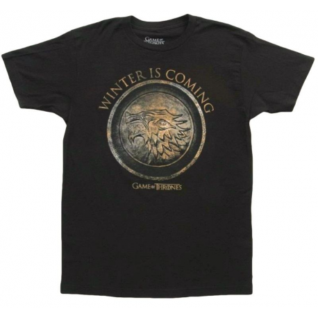 T-shirt Game of Thrones Stark Winter is Coming maglia Uomo ufficiale serie tv