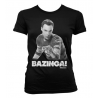 T-shirt Big bang Theory Sheldon Cooper Bazinga ! Uomo