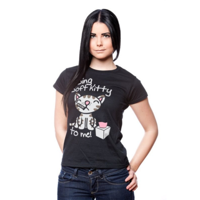 T-shirt Big Bang Theory Sing soft Kitty to me maglia donna ufficiale by Hybris