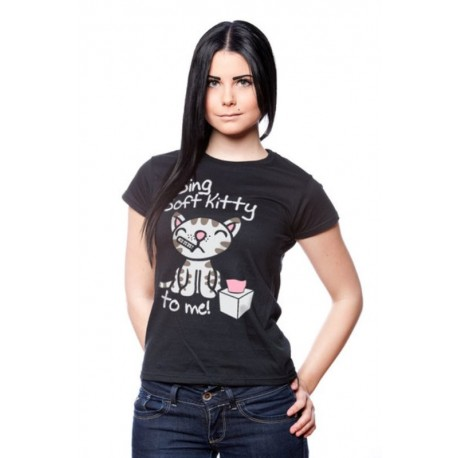 T-shirt Big Bang Theory Sing soft Kitty to me maglia donna ufficiale serie tv
