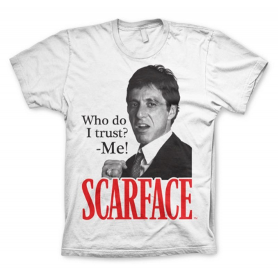 T-shirt Scarface Who Do I Trust Tony Montana Al Pacino Maglia Uomo by Hybris