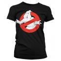 T-shirt Ghostbusters Distressed Logo vintage Woman Hybris
