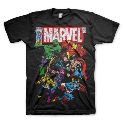 T-shirt Marvel Comics Heroes supereroi maglia Uomo by Hybris