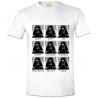T-shirt Star Wars Darth Vader expressions maglia Uomo ufficiale film Guerre Stellari