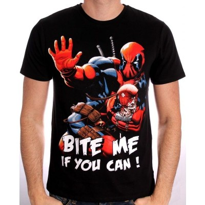 T-Shirt Deadpool bloody attack Marvel maglia Uomo ufficiale by Timecity