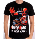 T-shirt Deadpool Bite me if you can! Marvel man