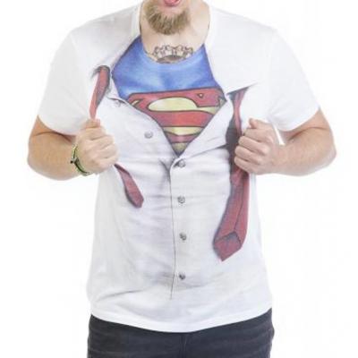T-shirt Superman logo shield man Maglia Uomo