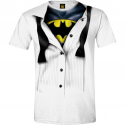 T-shirt Batman blouse fake tie man
