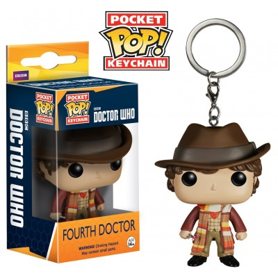 Portachiavi Doctor Who Fourth 4th Doctor Pocket Pop! Vinyl KeyChain Funko