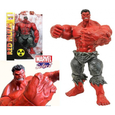 Action figure Red Hulk Incredible Hulk Marvel select 25 cm rosso by Diamond toys