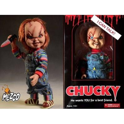 Action figure Chucky Bambola Assassina Child's Play talking Mezco