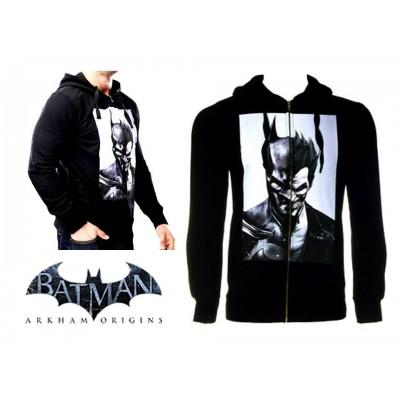 Felpa Batman Arkham Origins Half Batman Half Joker zip Hoodie Dc
