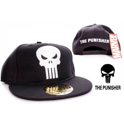 Cappello The Punisher Skull Logo flat back Cap Hat ufficiale