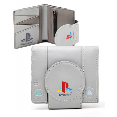 Portafoglio PlayStation One Shaped Bifold Wallet ufficiale Bioworld