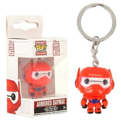 Portachiavi Big Hero 6 Armored Baymax Pocket Pop! Vinyl KeyChain Funko