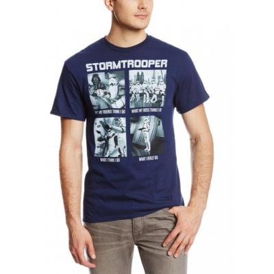 T-shirt Star Wars What Troopers Do Stormtrooper meme maglia Uomo