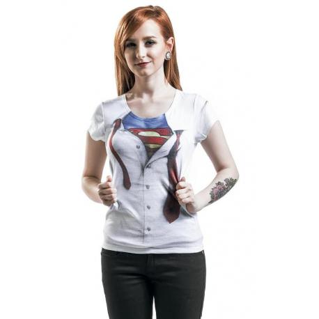T-shirt Superman - Super blouse fake tie maglia Donna ufficiale Timecity