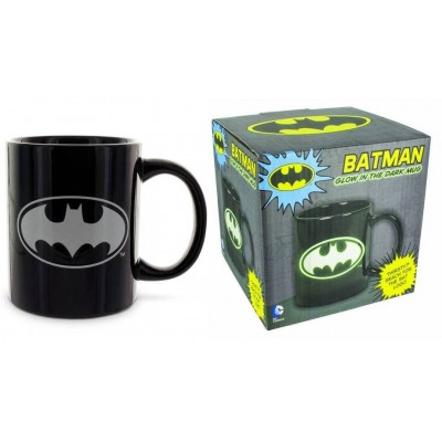 Tazza in ceramica Batman Glow in the Dark Black Logo Mug Dc Comics