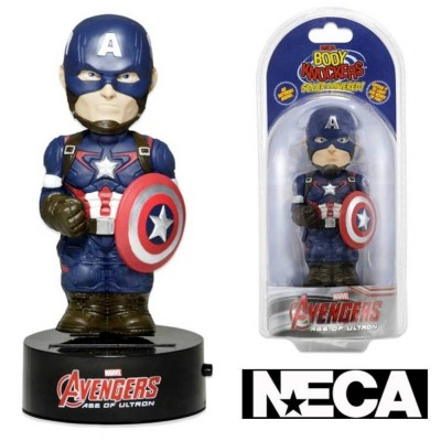 Body Knocker Avengers Age of Ultron Captain America Solar Powered NECA