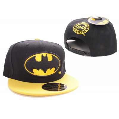Cappello Batman classic logo snapback Cap Hat Black/Yellow DC Comics
