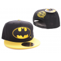 Batman The Dark Knight classic logo snapback Cap Black/Yellow DC Comics
