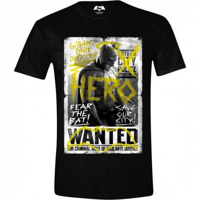 T-shirt Batman v Superman - Batman Wanted Poster maglia Uomo