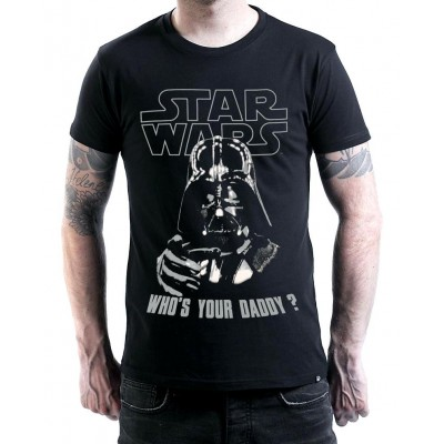 T-shirt Star Wars Darth Vader Who's your Daddy maglia Uomo ufficiale
