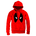 Felpa Deadpool Angry Eyes Men Hoodie con cappuccio e tasche ufficiale Marvel