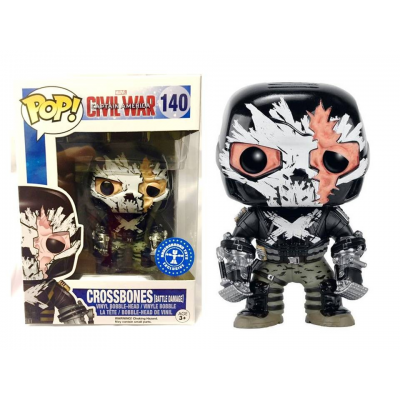 Captain America Civil War Crossbones Battle Damage Pop! Funko Vinyl