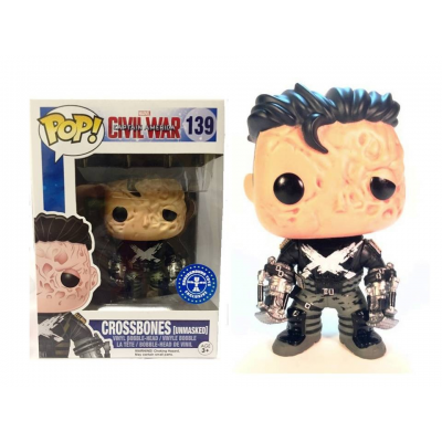 Captain America Civil War Crossbones Unmasked Pop! Funko Vinyl figure
