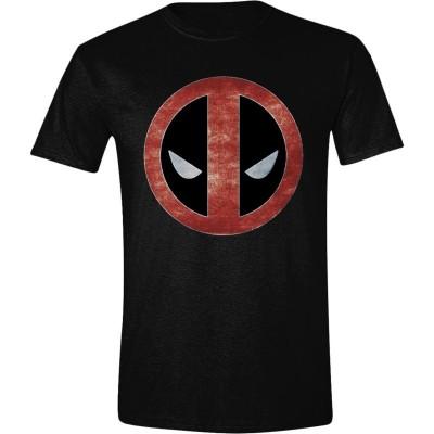 T-shirt Deadpool Foil face Logo maglia Uomo Men ufficiale Marvel
