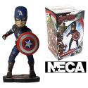 Bobble-head Captain America Marvel Avengers Age of Ultron Head knocker Neca