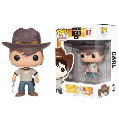 Figura vinile The Walking Dead Carl Grimes Pop! Funko Vinyl Figure n° 97