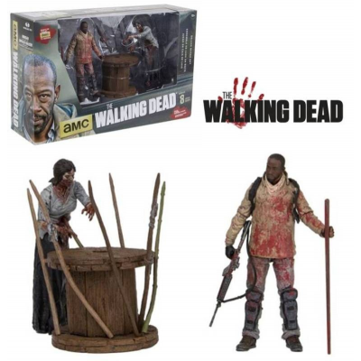 Walking Dead Morgan with impaled walker Deluxe Figure set McFarlane