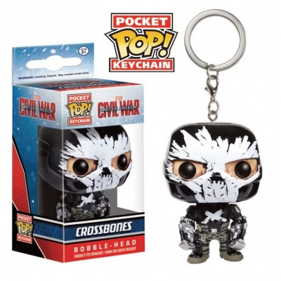 Portachiavi Captain America Civil War Crossbones Pocket Pop KeyChain