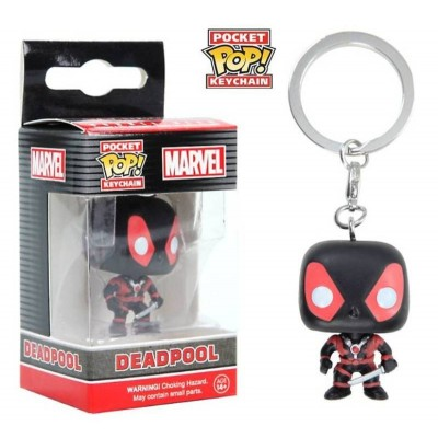 Portachiavi Deadpool (Black Suit) Marvel Pocket Pop! KeyChain Funko