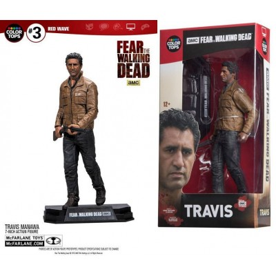 Action Figure Travis Manawa Fear Walking Dead Color Top McFarlane