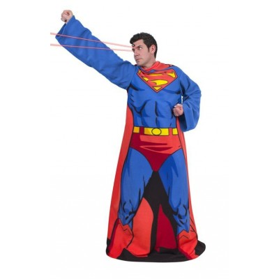 Coperta Superman Snuggie Fleece cozy Blanket in Pile con maniche tg Unica Uomo