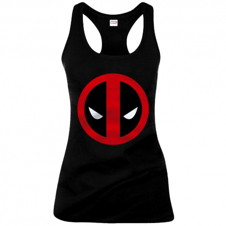 Canottiera Deadpool angry face Logo Women Tank top donna Marvel