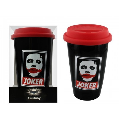 Tazza da viaggio Obey The Joker - Batman Dark Knight Travel Mug DC Comics 15 cm