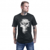 T-shirt The Punisher Distressed Skull logo Marvel maglia teschio Uomo