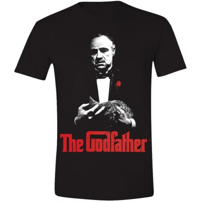 T-shirt The Godfather Poster Print - Il Padrino Don Vito Corleone Uomo ufficiale