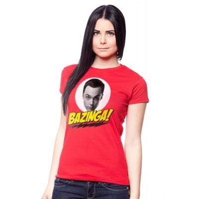 T-shirt Big Bang Theory Bazinga ! donna