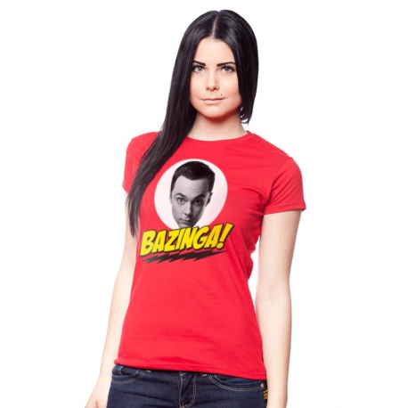 T-shirt Big Bang Theory Bazinga ! donna