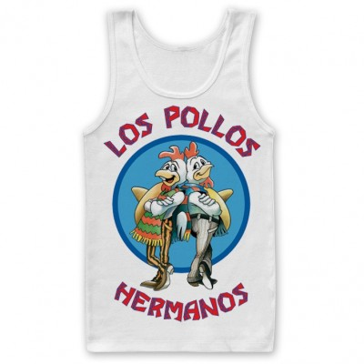 Canottiera Breaking Bad Los Pollos Hermanos Tank Top Uomo ufficiale Hybris