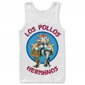 Canottiera Breaking Bad Los Pollos Hermanos Tank Top Uomo ufficiale Hybris